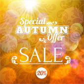 Autumn sale retro poster — Stock Vector