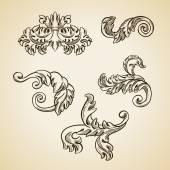 巴洛克式雕刻花艺设计 — 图库矢量图片