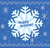 Paper snowflake on sweater background — Stockvector