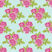 Seamless pattern with flowers rose — Stock Vector