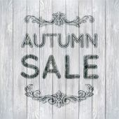 Autumn sale poster — Stock Vector