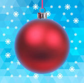 Holiday background with toy ball — Stock Vector