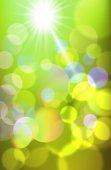 Realistic bokeh lights — Stock Vector