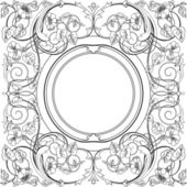 Ornamental Square Design and Frame — Stock Vector