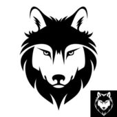 Wolf head logo or icon — Stock Vector