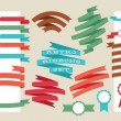 Retro ribbons and labels set. Vector illustration — Stock Vector #56028155
