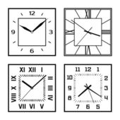 Set of different clock faces — Stock Vector
