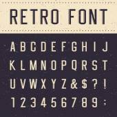 Retro alphabet vector font — Stock Vector