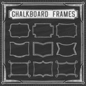 A Set of Chalkboard Frames - Design Elements - Illustration — Stock Vector