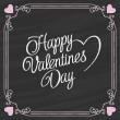 Valentines Day Lettering on a Chalkboard Background — Stock Vector #63555337