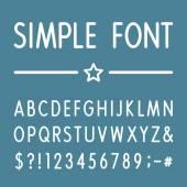 Alphabet - Simple Vector Font. — Vettoriale Stock