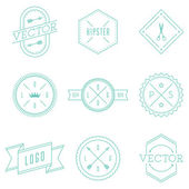 Set of Retro Vintage Hipster Logotypes. — Stock Vector