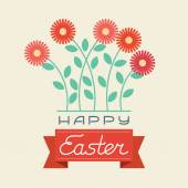 Happy Easter card - Vector Illustration — Stock Vector