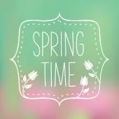 Spring time lettering - Vector Illustration — Stock Vector