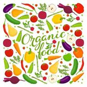 Organic food lettering — Stock Vector