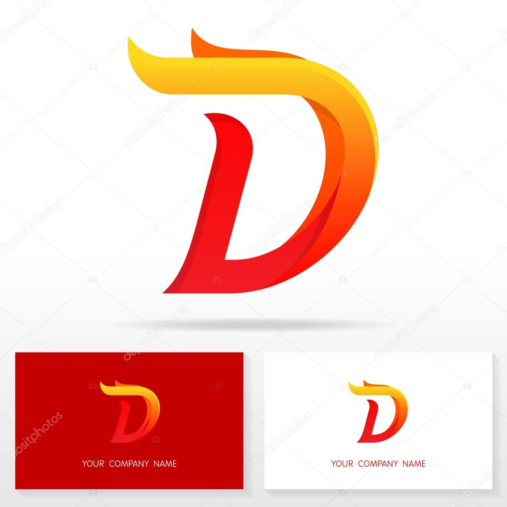 letter d logo icon design template elements illustration