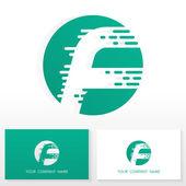 Letter F logo icon design template elements - Illustration — Stock Vector