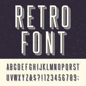ретро векторный шрифт алфавита. — Cтоковый вектор