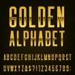 Golden Alphabet Vector Font. — Stock Vector #72583703