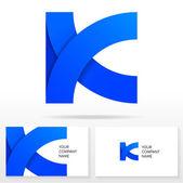 Letter K logo icon design template elements - Illustration. — Stock Vector
