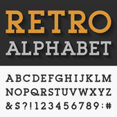 Retro Slab Serif Alphabet Vector Font. — Stock Vector