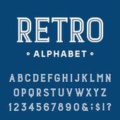 Retro Alphabet Vector Font. — Stock Vector
