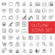 Outline icons set for web and applications. — Stock Vector #74324585