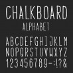 Chalkboard Alphabet Vector Font. — Stock Vector #75626027