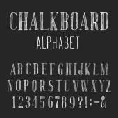 Chalkboard Alphabet Vector Font. — Stock Vector