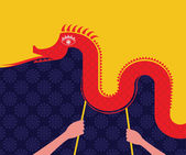 Chinese New Year -Dancing Dragon — Stock vektor