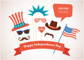 Costume props for independence day of America — Stock Vector