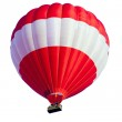 Red Hot Air Balloon isolated on White — Stock Photo #58418229