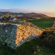 Stone Wall and Coastal View near Mortehoe in North Devon, Englan — Stock Photo #64513051