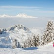 Skiers on Le Ranfoilly, Morzine — Stock Photo #66938987