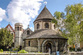 La ronda iglesia del Santo Sepulcro, Cambridge — Foto de Stock