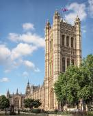 Victoria Tower at the Palace of Westminster in London — Stock Photo