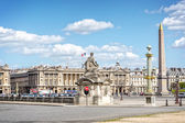 Place de la Concorde in Paris, France — Stock Photo