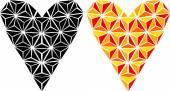Graphic heart-design element — Vector de stock
