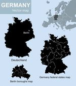 Maps of Germany — Stock Vector