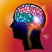 Kafa nöronlar — Stok Vektör