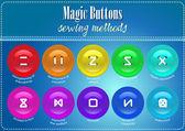 Magic Bottons — Stock Vector