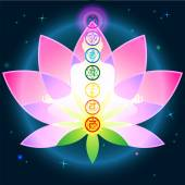 Chakras Lotus — Stock Vector