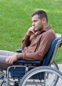 Handicap businessman — Stock Photo