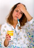 Unwell woman — Stock Photo