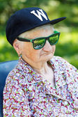 Funny old lady — Stock Photo