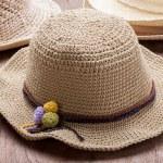 Hats Crochet from Hemp — Stock Photo #56963293