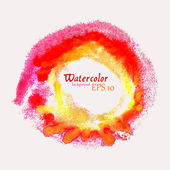 Designed abstract watercolor element. Vector isolated illustration — Vettoriale Stock