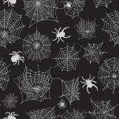 Vector seamless pattern with spiders. Vector illustrations — Stock Vector