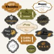Set of 12 isolated Thanksgiving frames and labels — Vettoriale Stock  #56616883