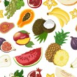 Seamless pattern with healthy fruits — Stock Vector #69911695
